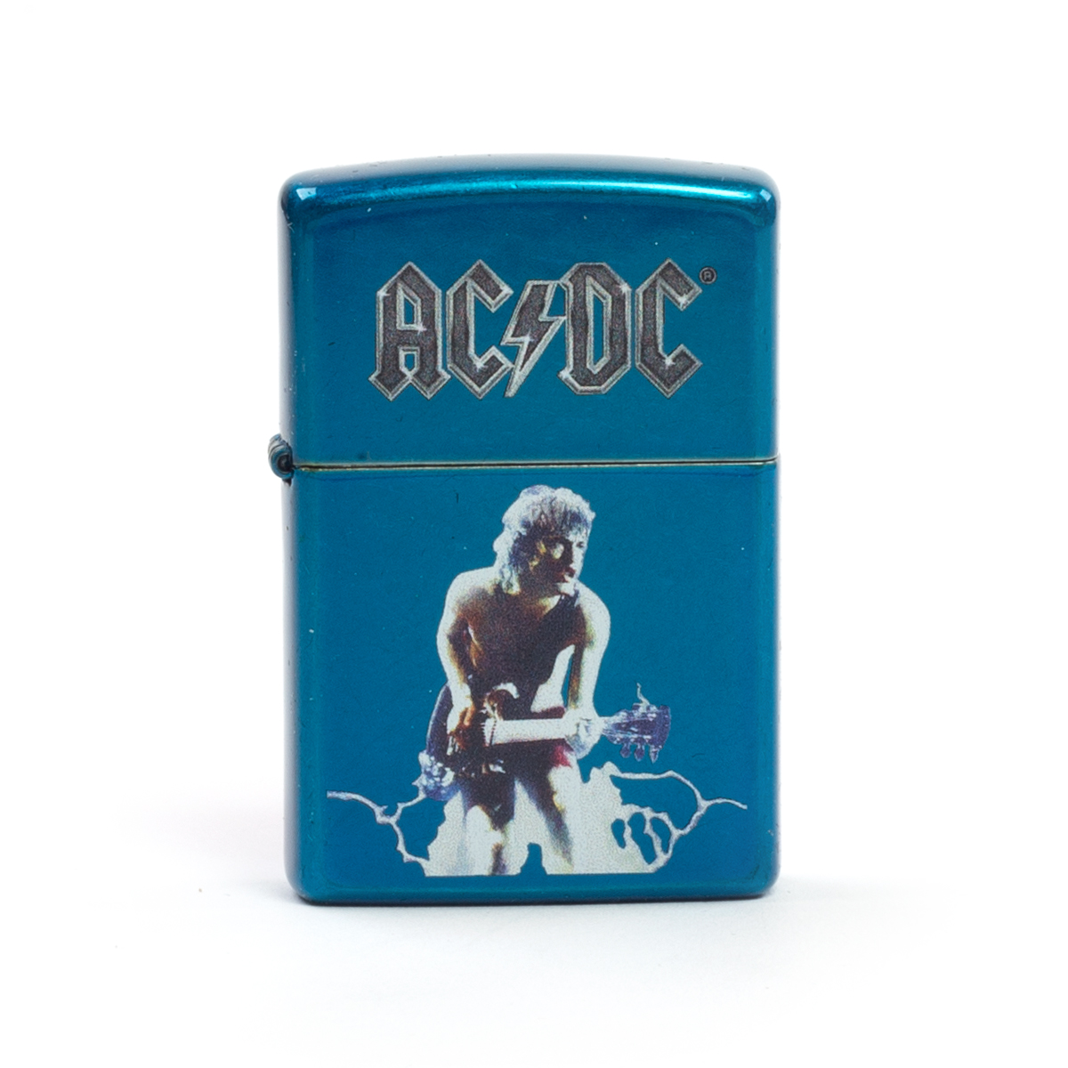 AC/DC Angus Photo Blue Zippo Lighter