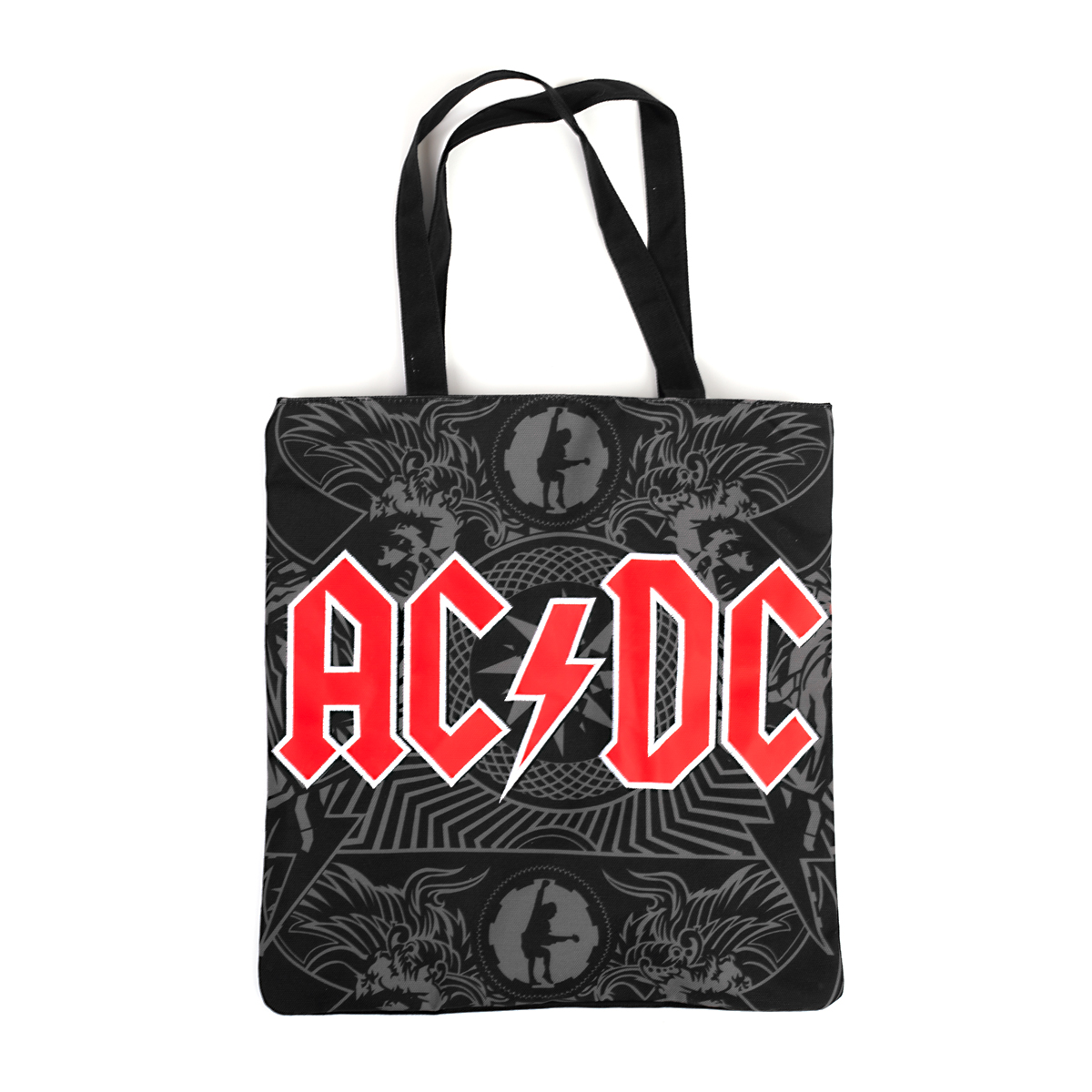 AC/DC Angus Rocker Black Totebag