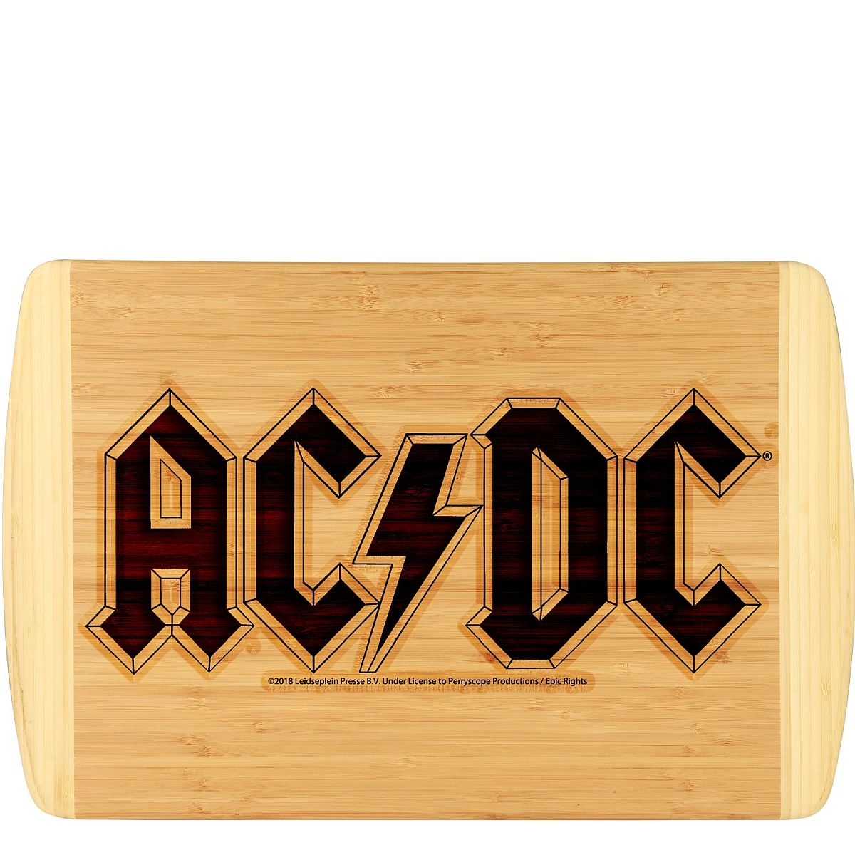 AC/DC Logo Laser Engraved Large Bamboo Cutting Board