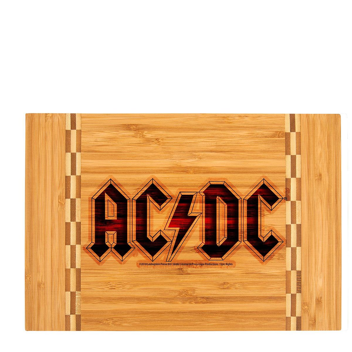 Logo Laser Engraved Cutting Board w/Butcher Block Inlay