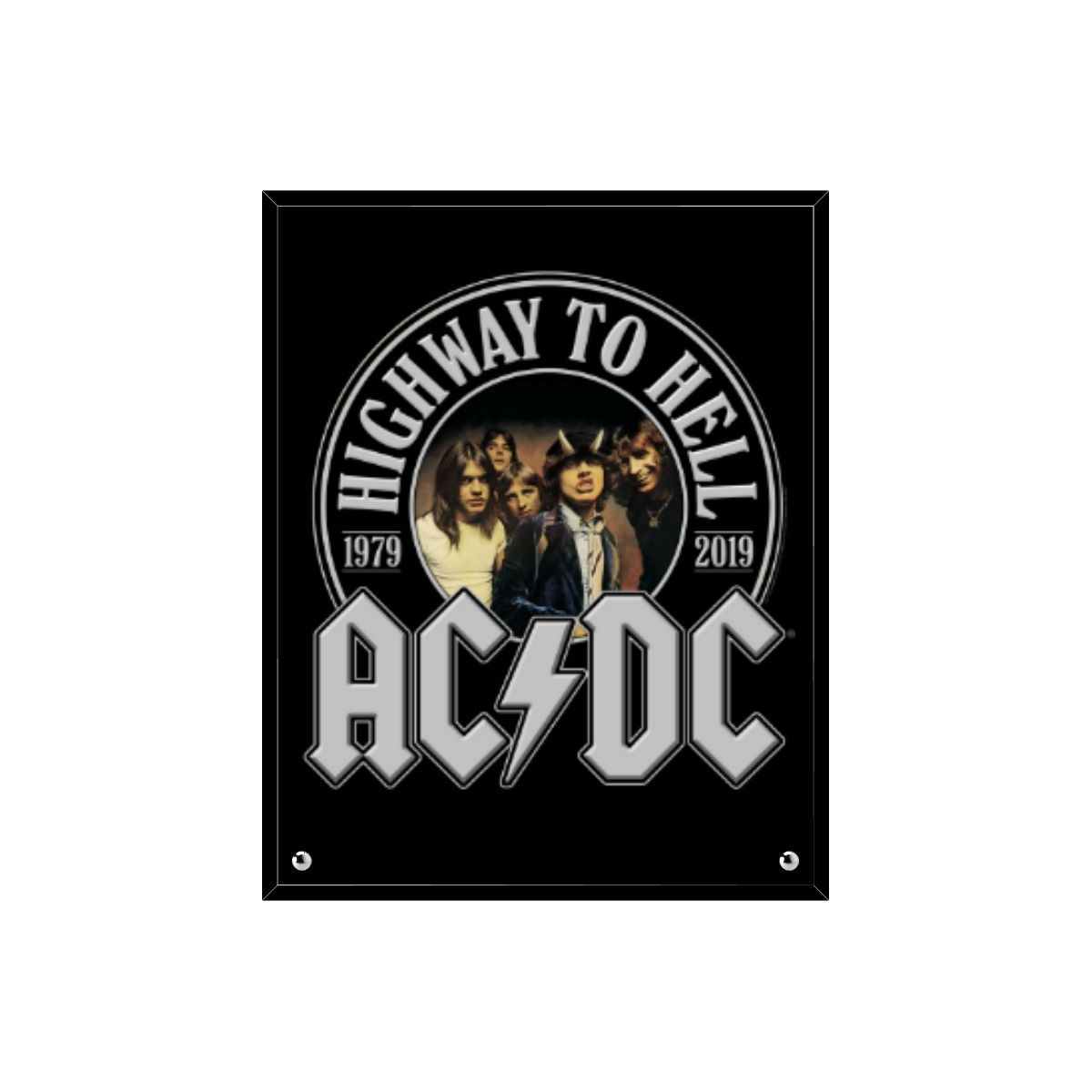 Highway To Hell 40th Anniversary Glass Print