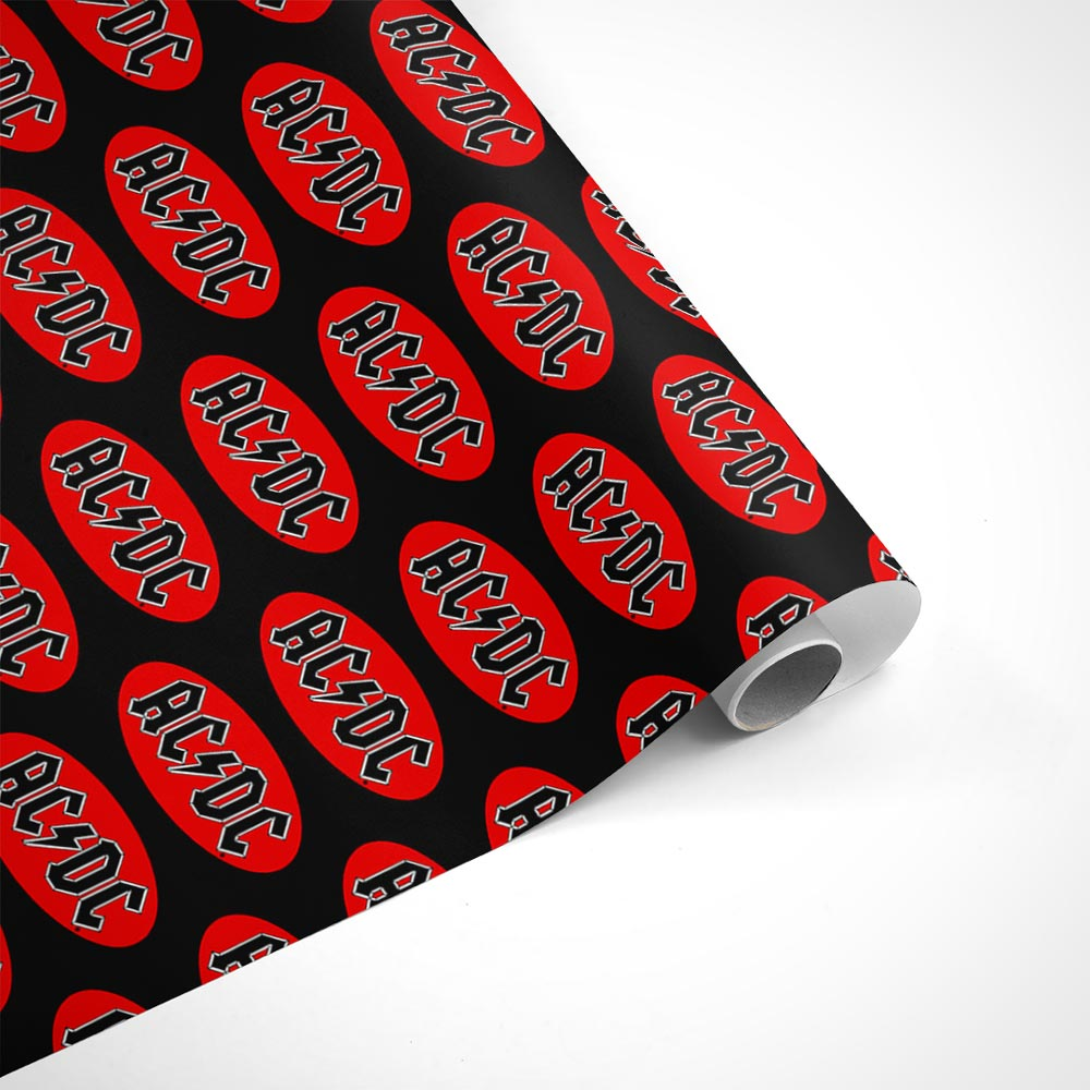 AC/DC Red Logo Wrapping Paper