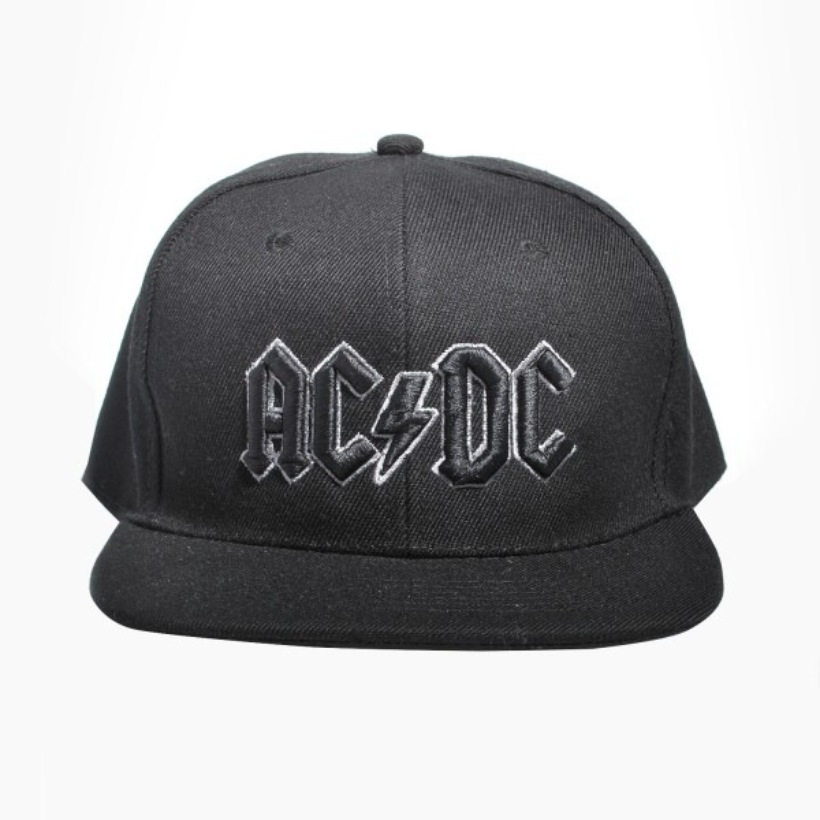 Grey Outline 3D Logo Snapback Baseball Hat