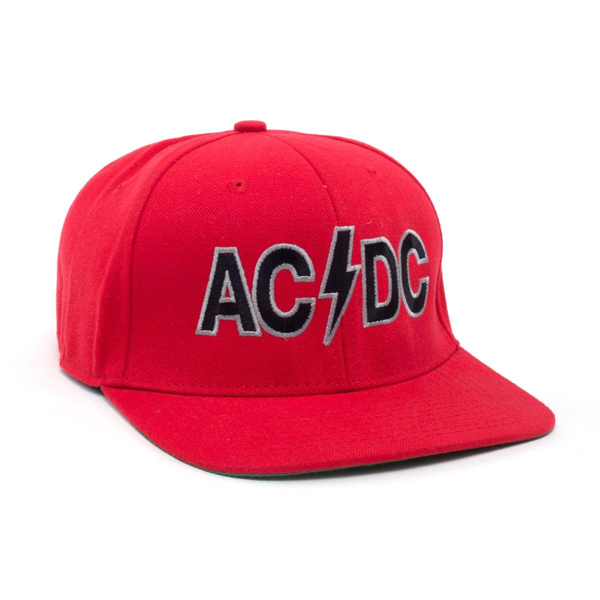 AC/DC Logo Red Snapback Cap