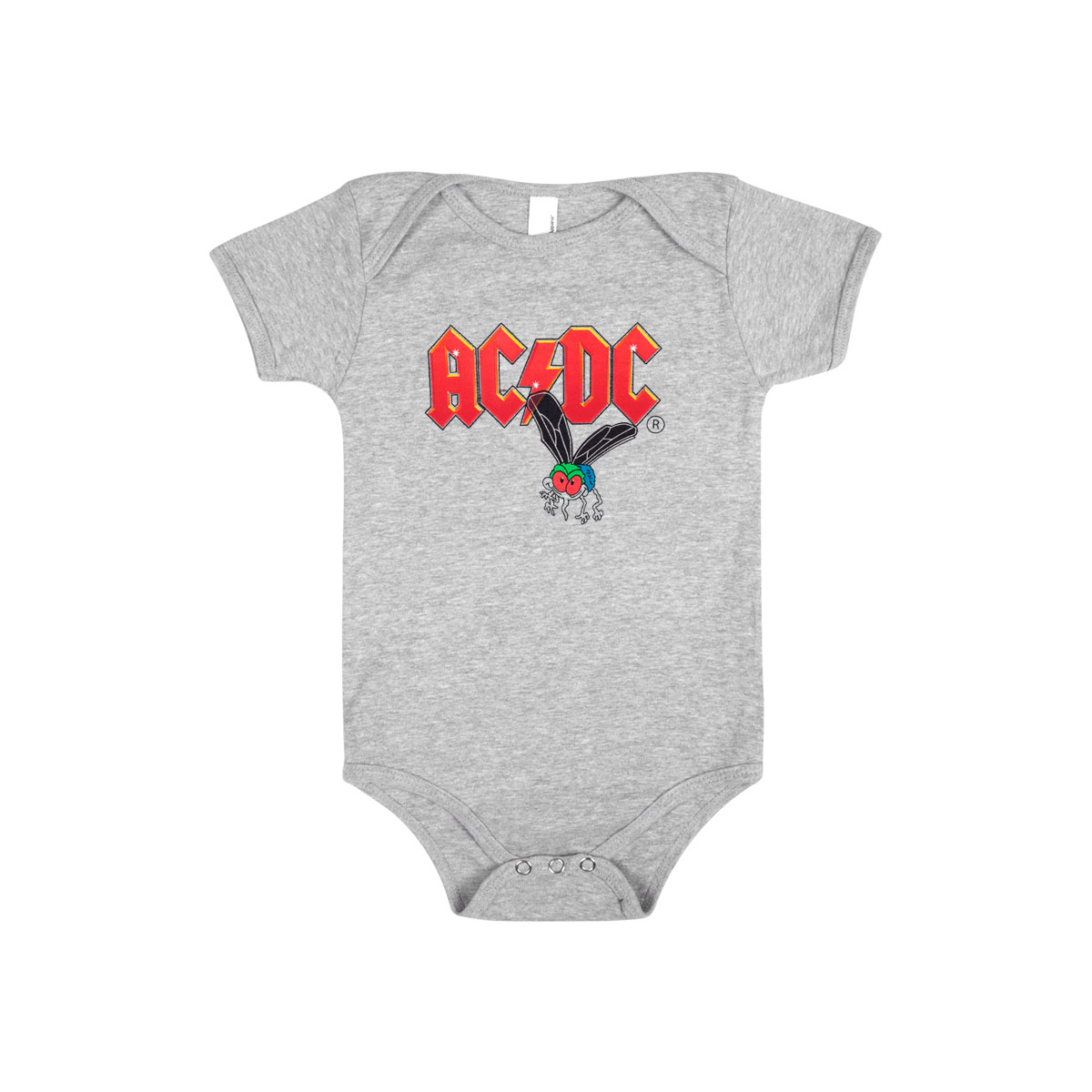 AC/DC Fly on the Wall Grey Baby Onesie
