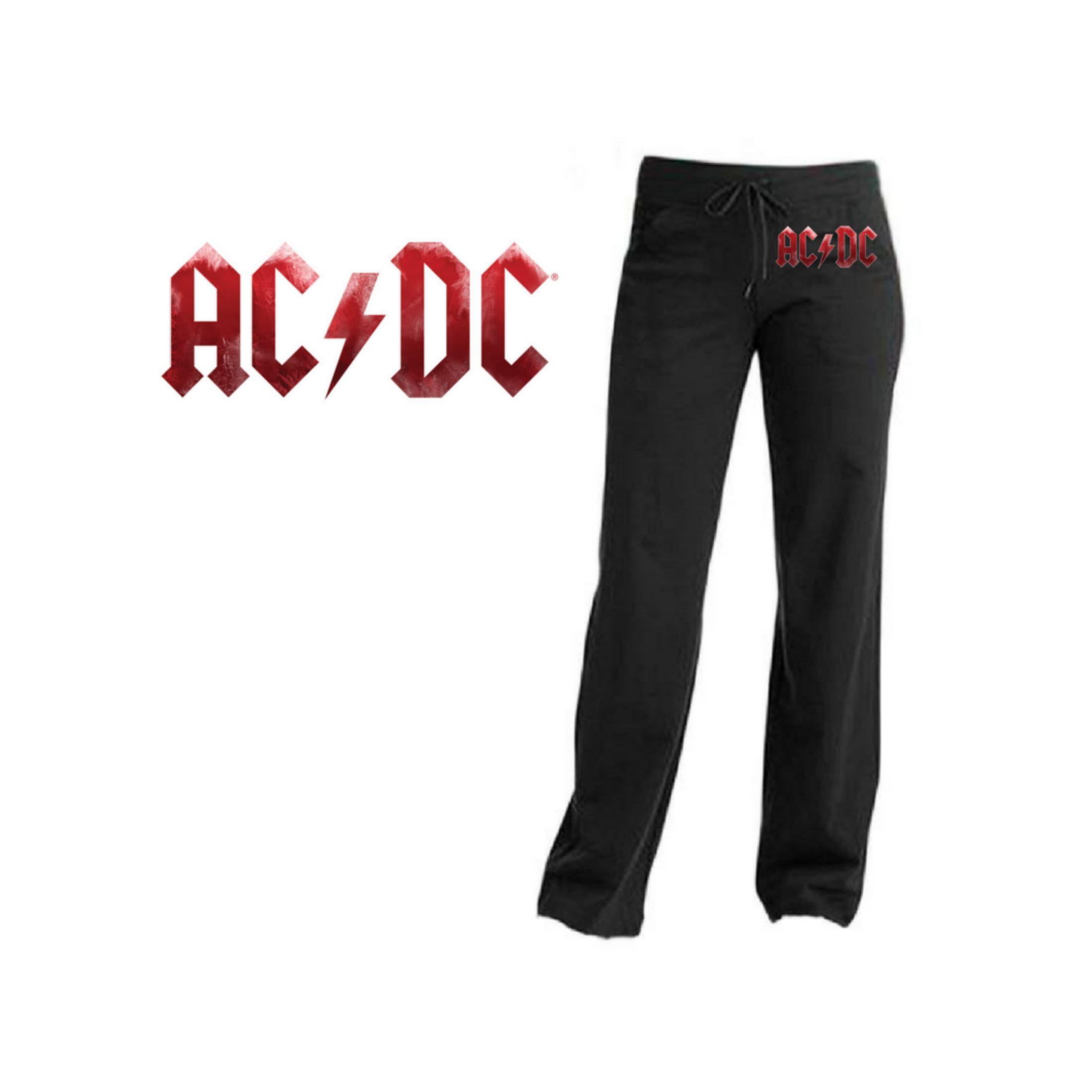 AC/DC Red Grunge Logo Yoga Pants