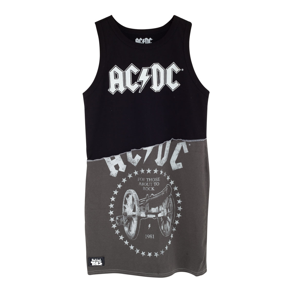 AC/DC Mini Dress