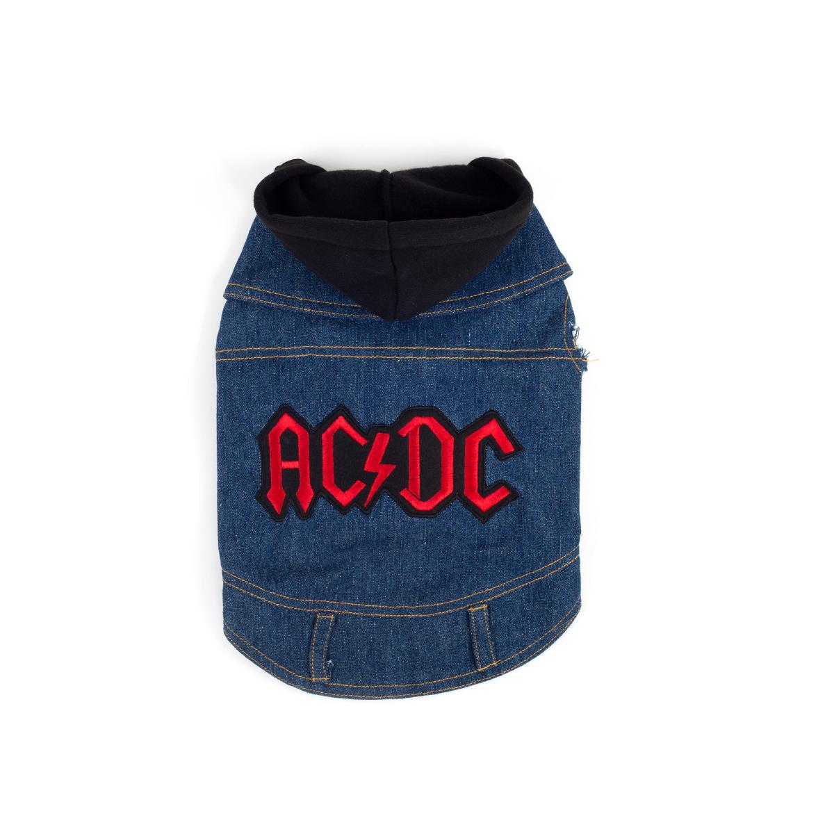 AC/DC Denim Dog Hoodie