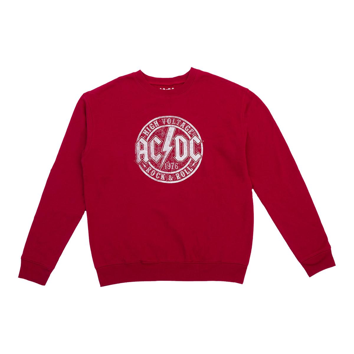 AC/DC High Voltage 1976 Ladies Red Sweatshirt