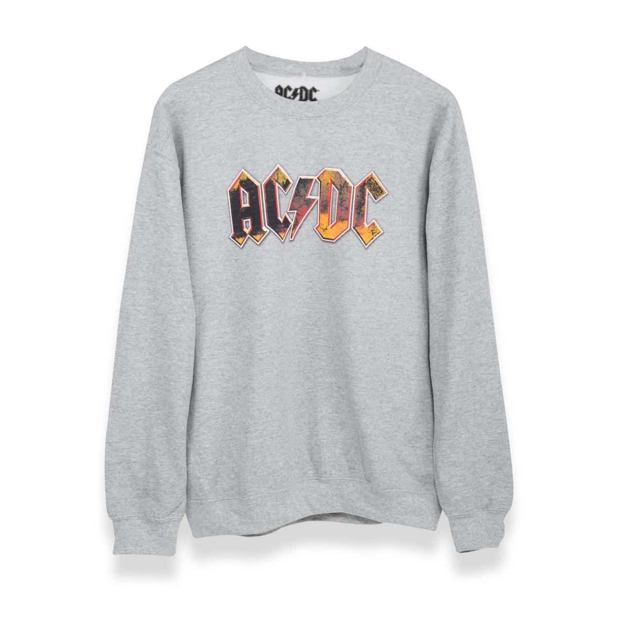 AC/DC Logo Crewneck Sweatshirt - Grey