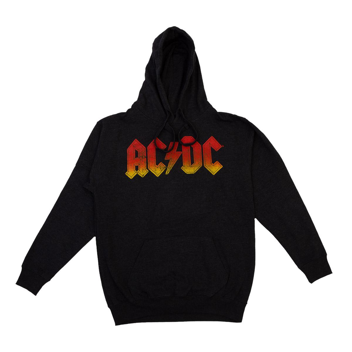 AC/DC Logo Charcoal Hoodie