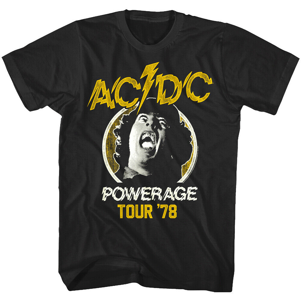 AC/DC Powerage Tour Black Tee