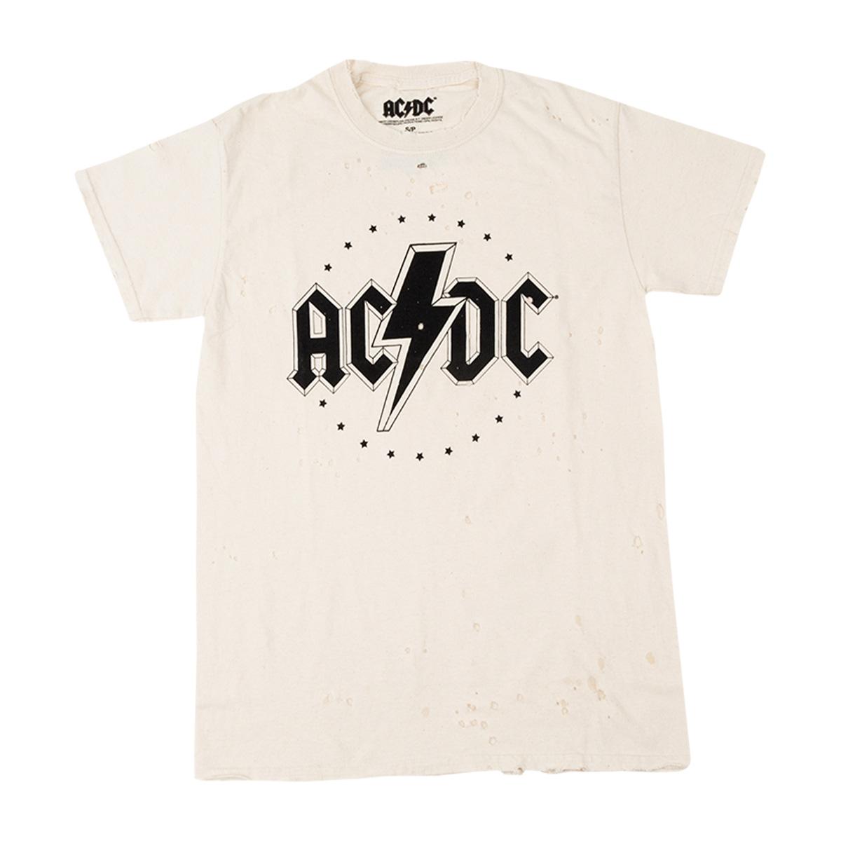 AC/DC Stars Distressed T-shirt