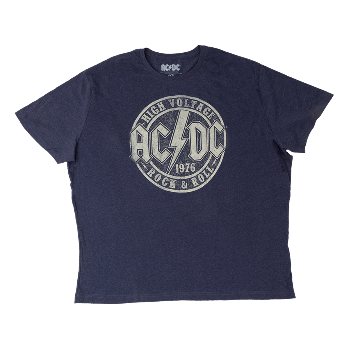 AC/DC High Voltage Big & Tall Navy Heather T-shirt