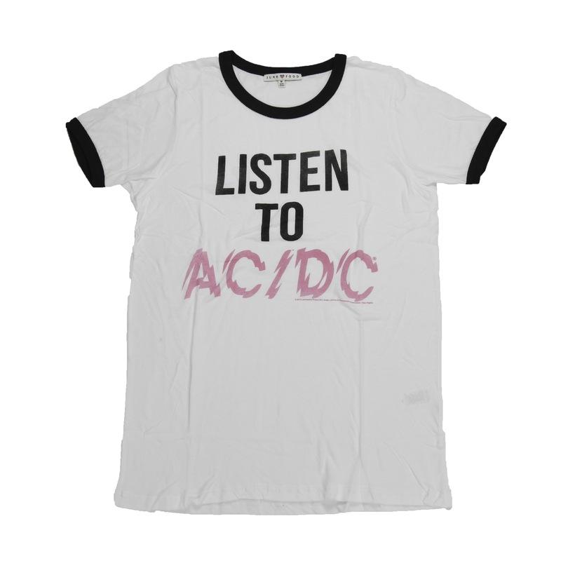 Women's Listen To AC/DC Ringer T-Shirt