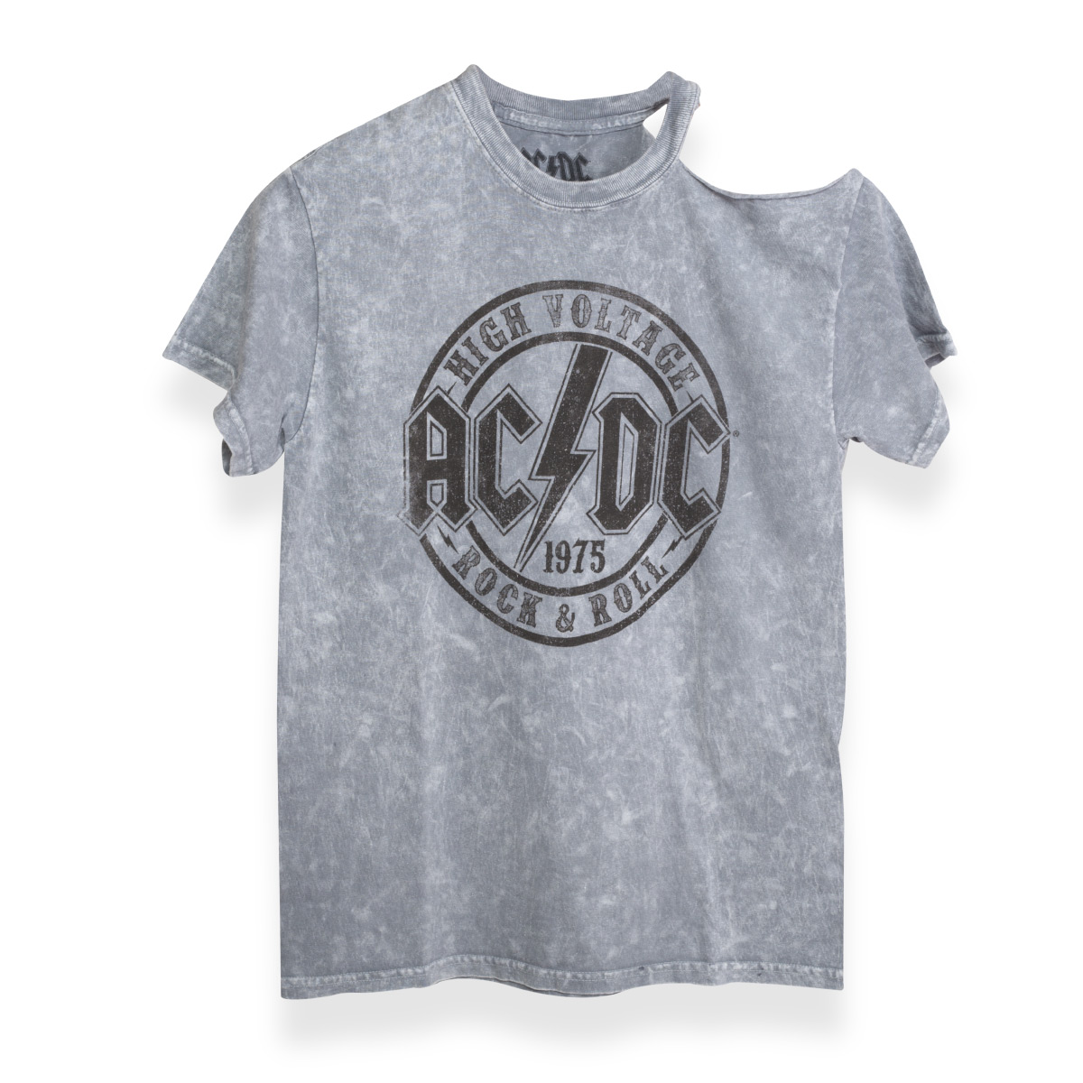 AC/DC High Voltage Rock Shoulder Cut T-Shirt