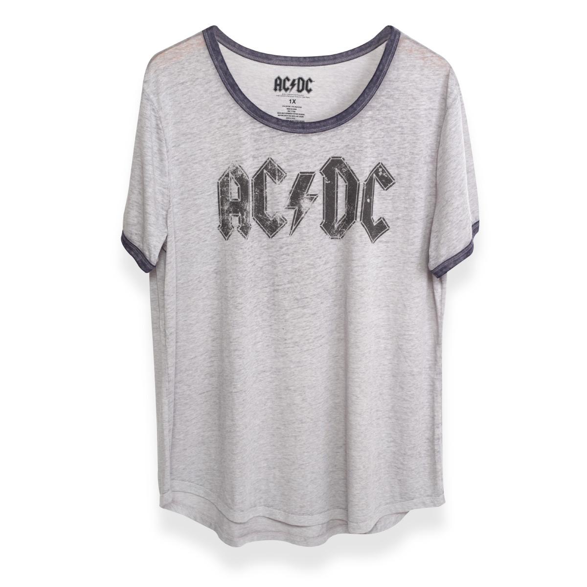 AC/DC Black Logo Grey Women's T-Shirt
