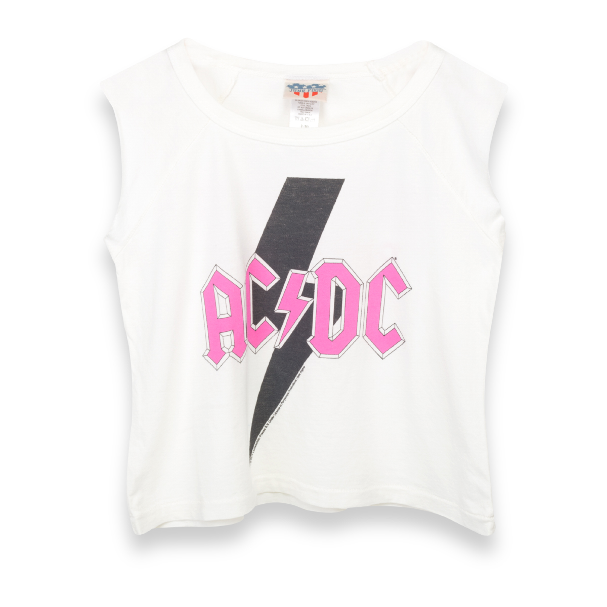 AC/DC Pink Logo Black Lightening Bolt White Kids T-Shirt