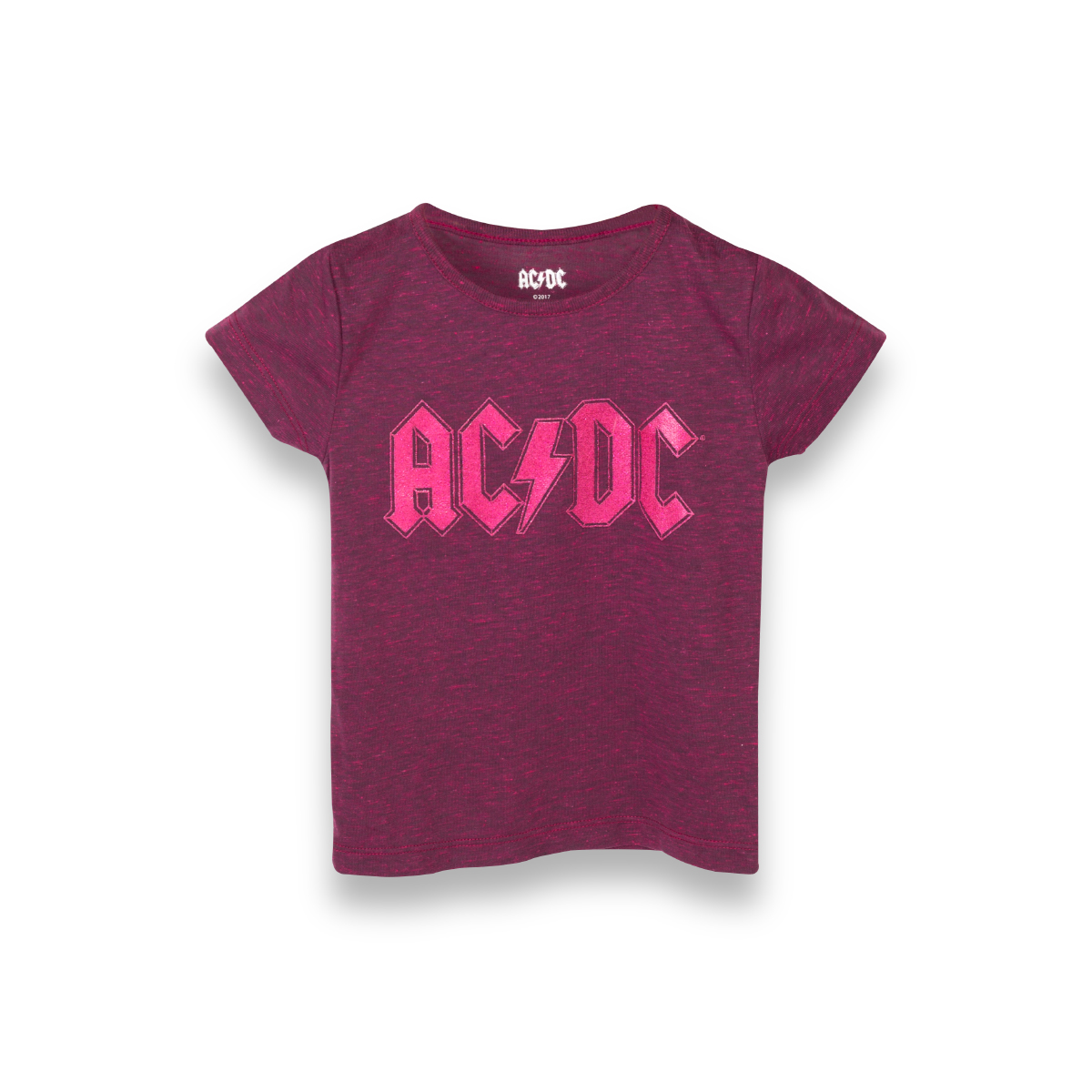 AC/DC Pink Glitter Logo T-shirt