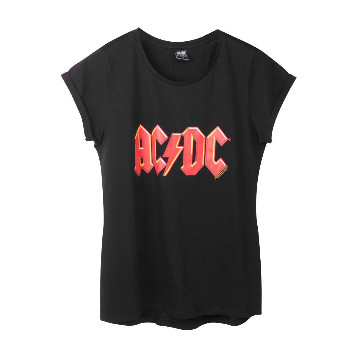 881a1326dc92 AC/DC Women's Red Lightning Logo T-Shirt | Shop the AC/DC Official ...