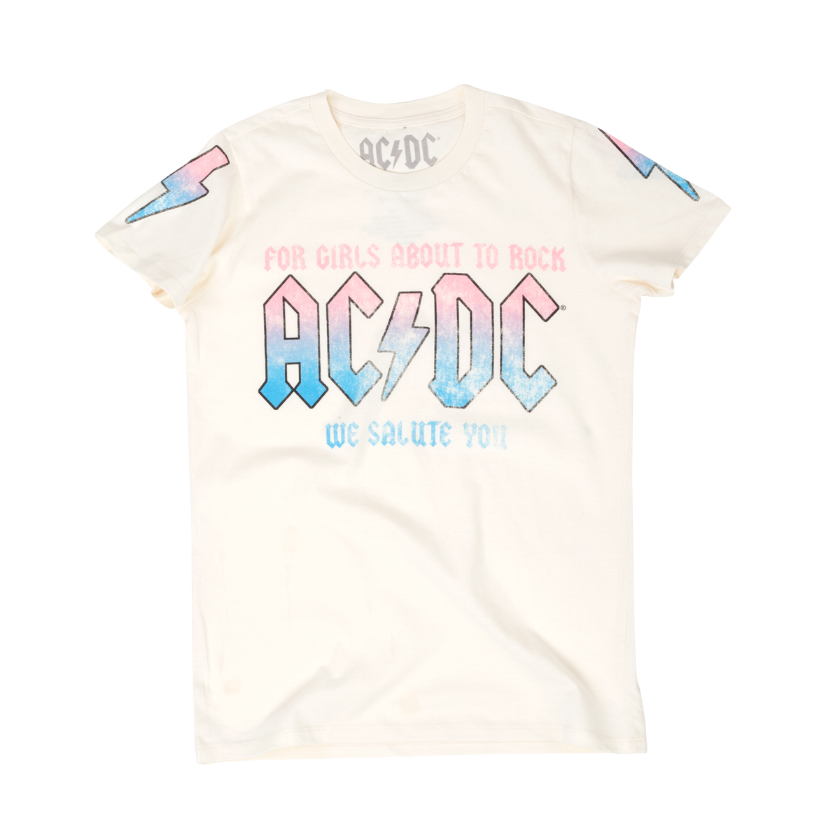 AC/DC For Girls About To Rock White Junior T-Shirt