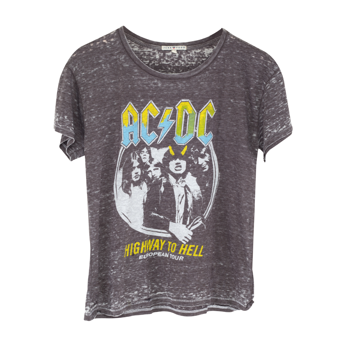 AC/DC Yellow Horns Highway To Hell European Tour T-Shrit