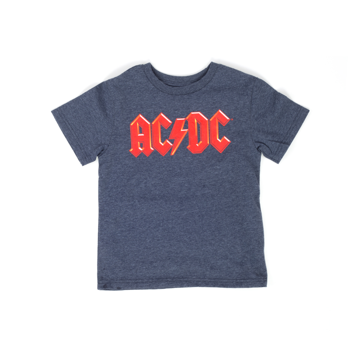AC/DC Kids Red Logo Blue T-Shirt