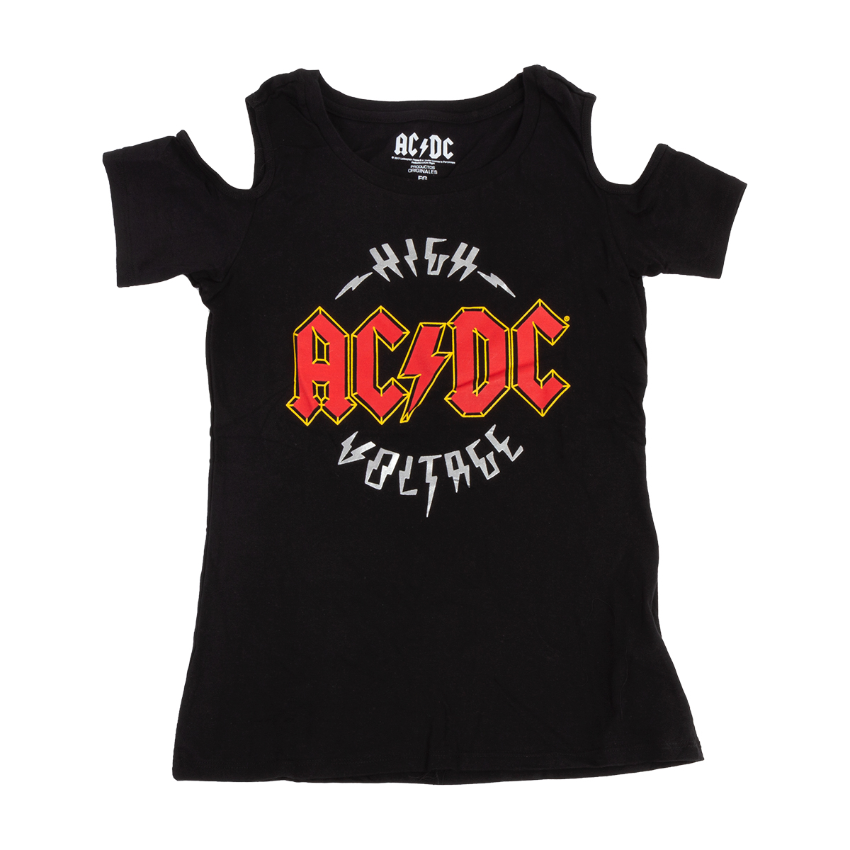 AC/DC Cold Shoulder Women's High Voltage T-Shirt