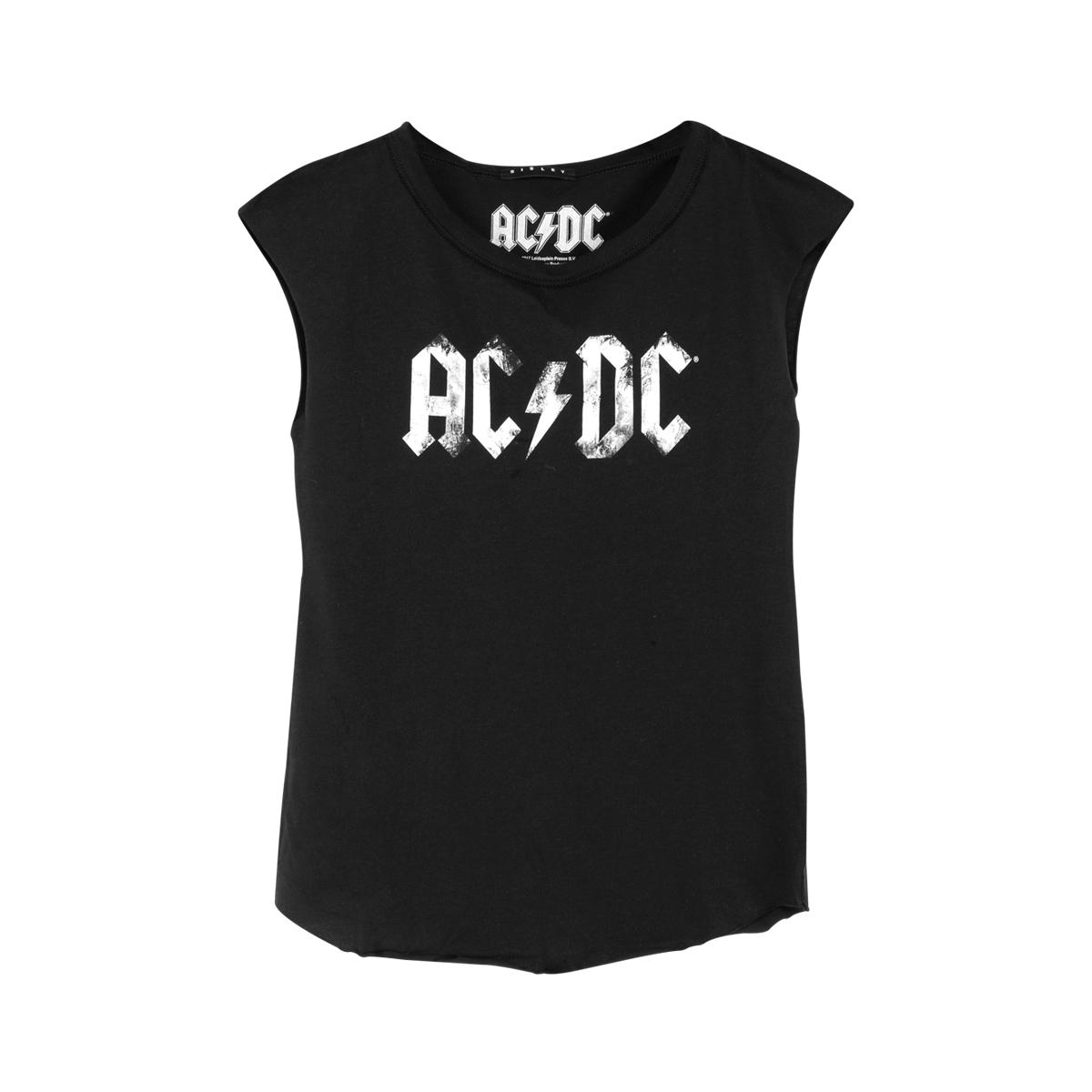 AC/DC White Logo Ladies Tee