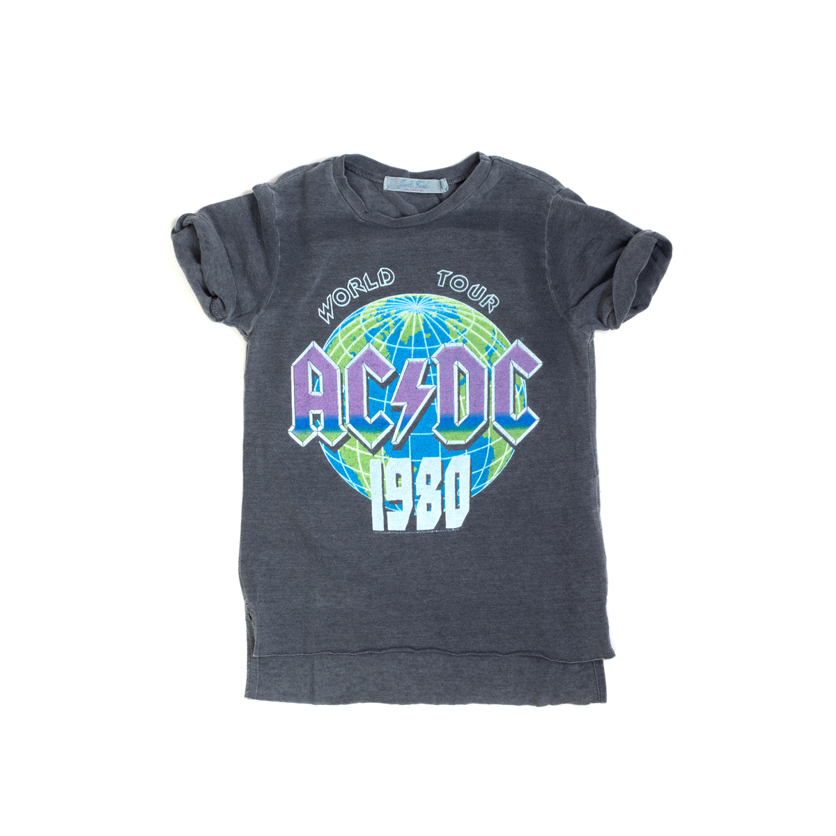 AC/DC Kids World Tour 1980 Globe T-Shirt