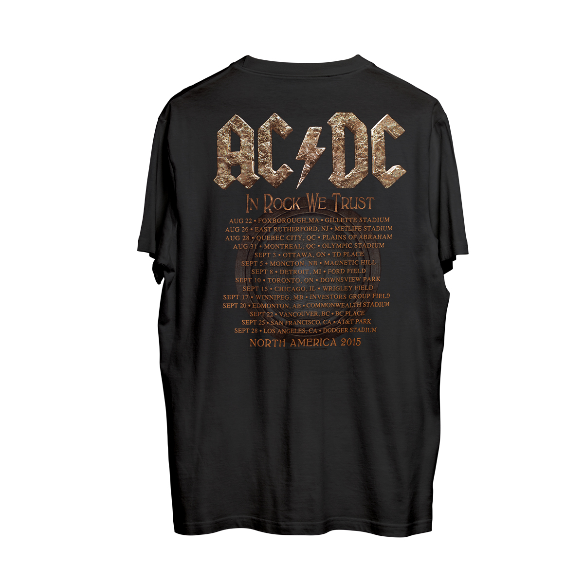 AC/DC Rock or Bust 2015 Tour T-shirt