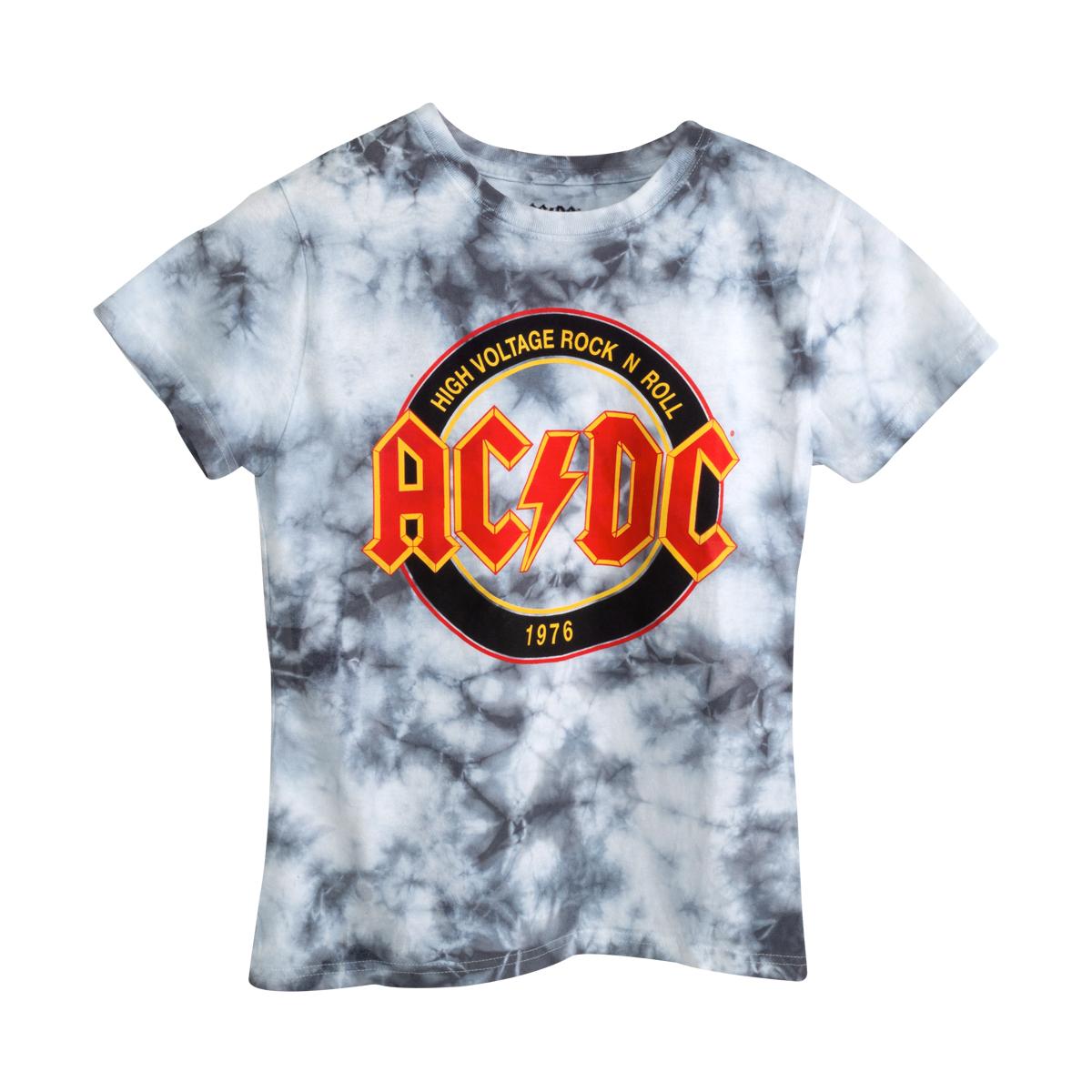 AC/DC High Voltage Rock N' Roll Circle Logo Tie-Die T-shirt