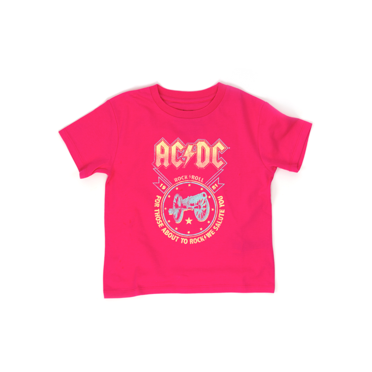 AC/DC For Those About to Rock Girls Pink T-Shirt