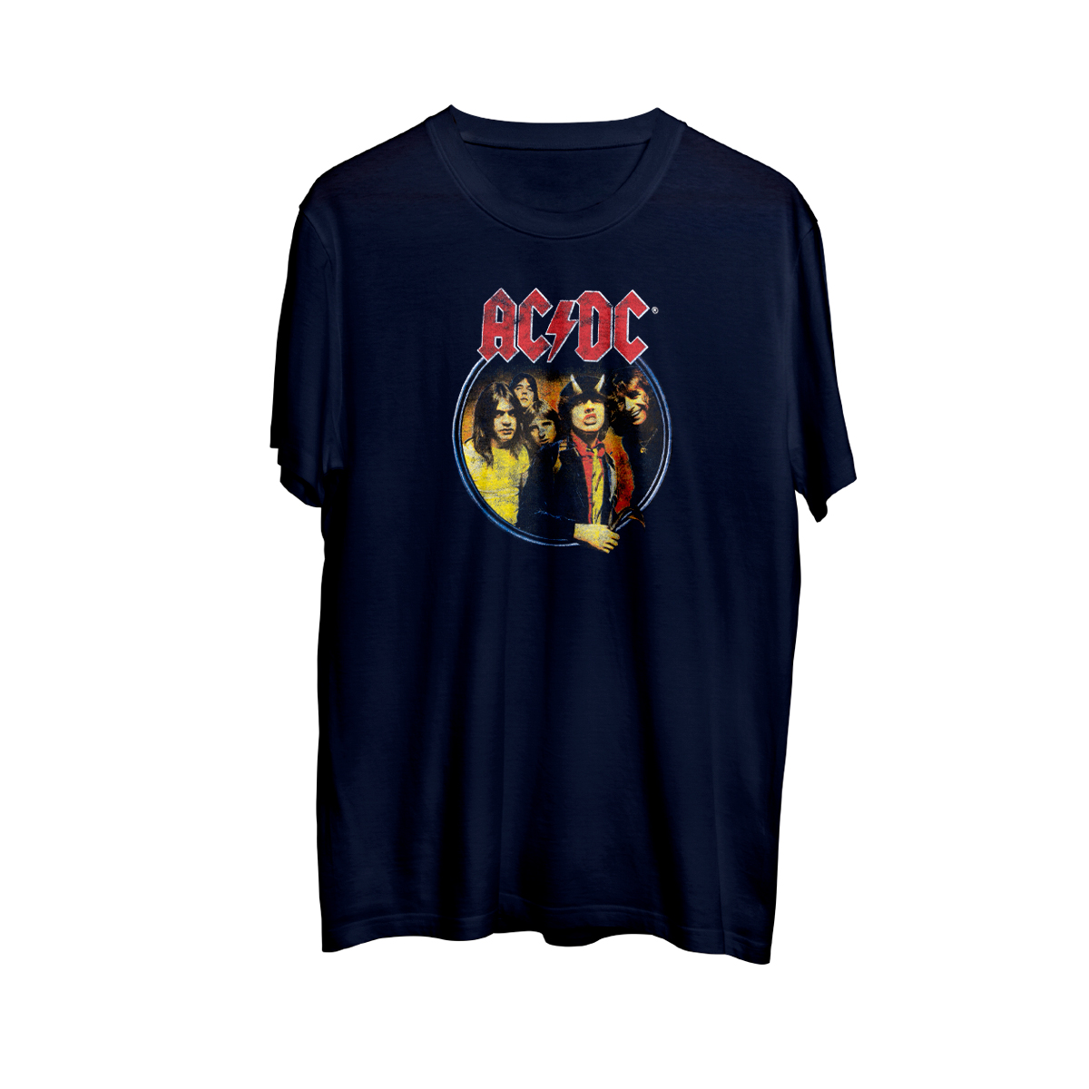 AC/DC Highway to Hell Circle Logo Blue T-shirt