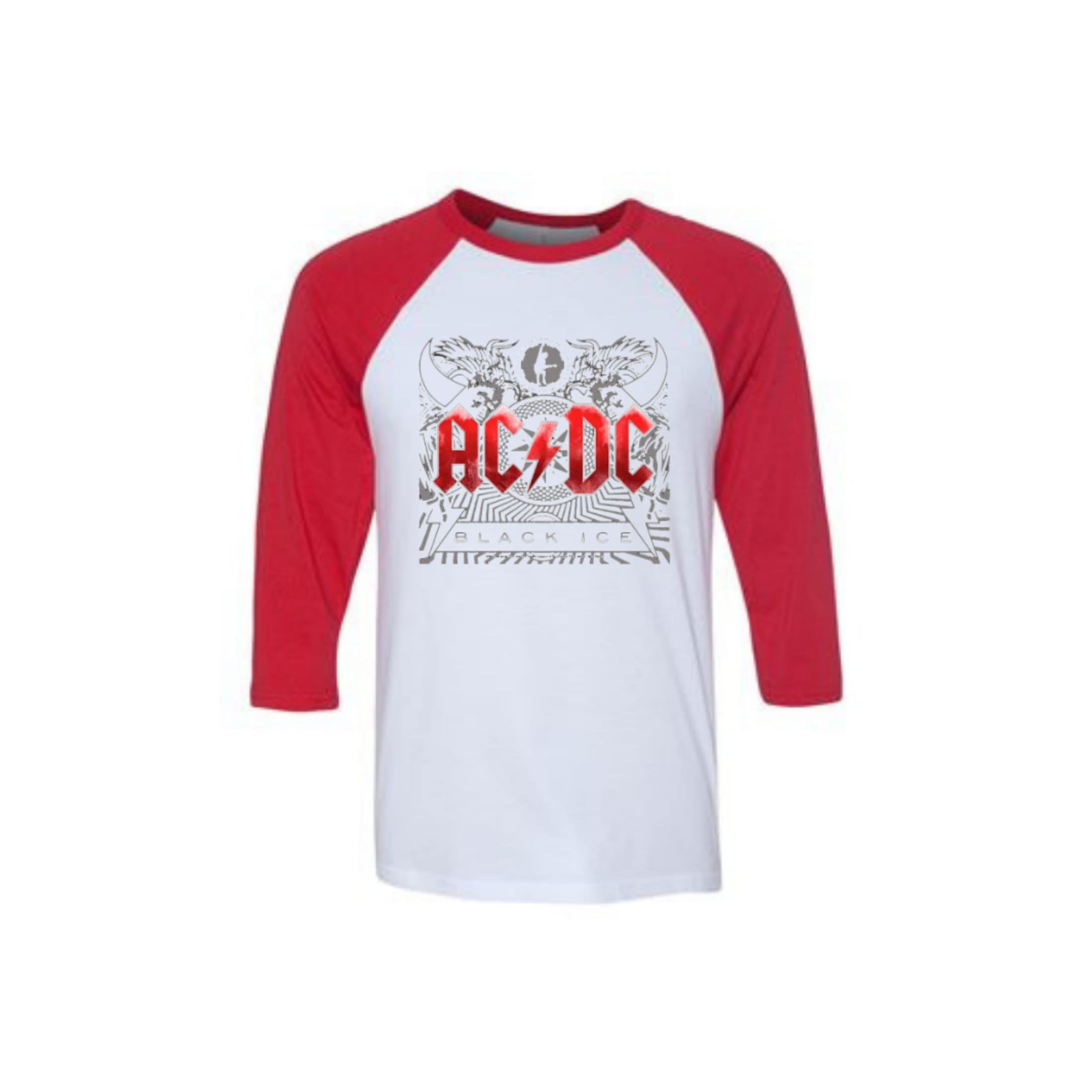 Black Ice Red Raglan
