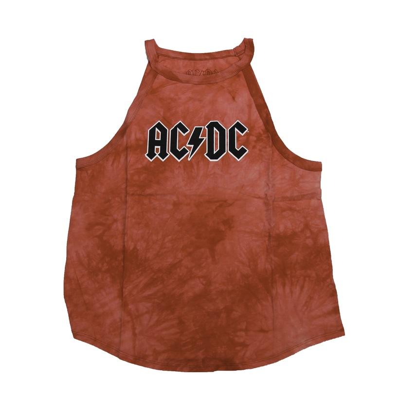 Women's Red Tie Dye Logo Tank