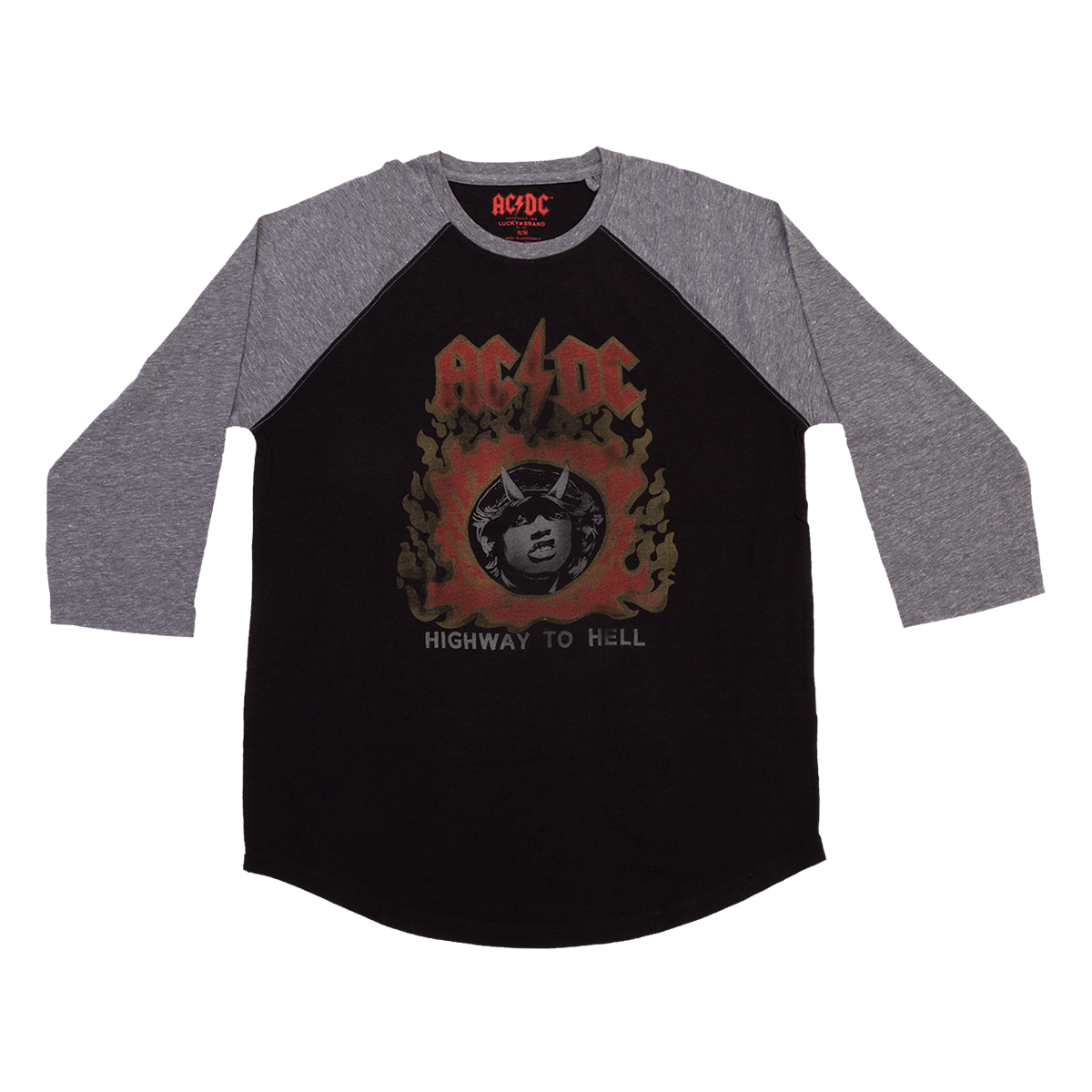 AC/DC Highway to Hell Angus Photo Raglan