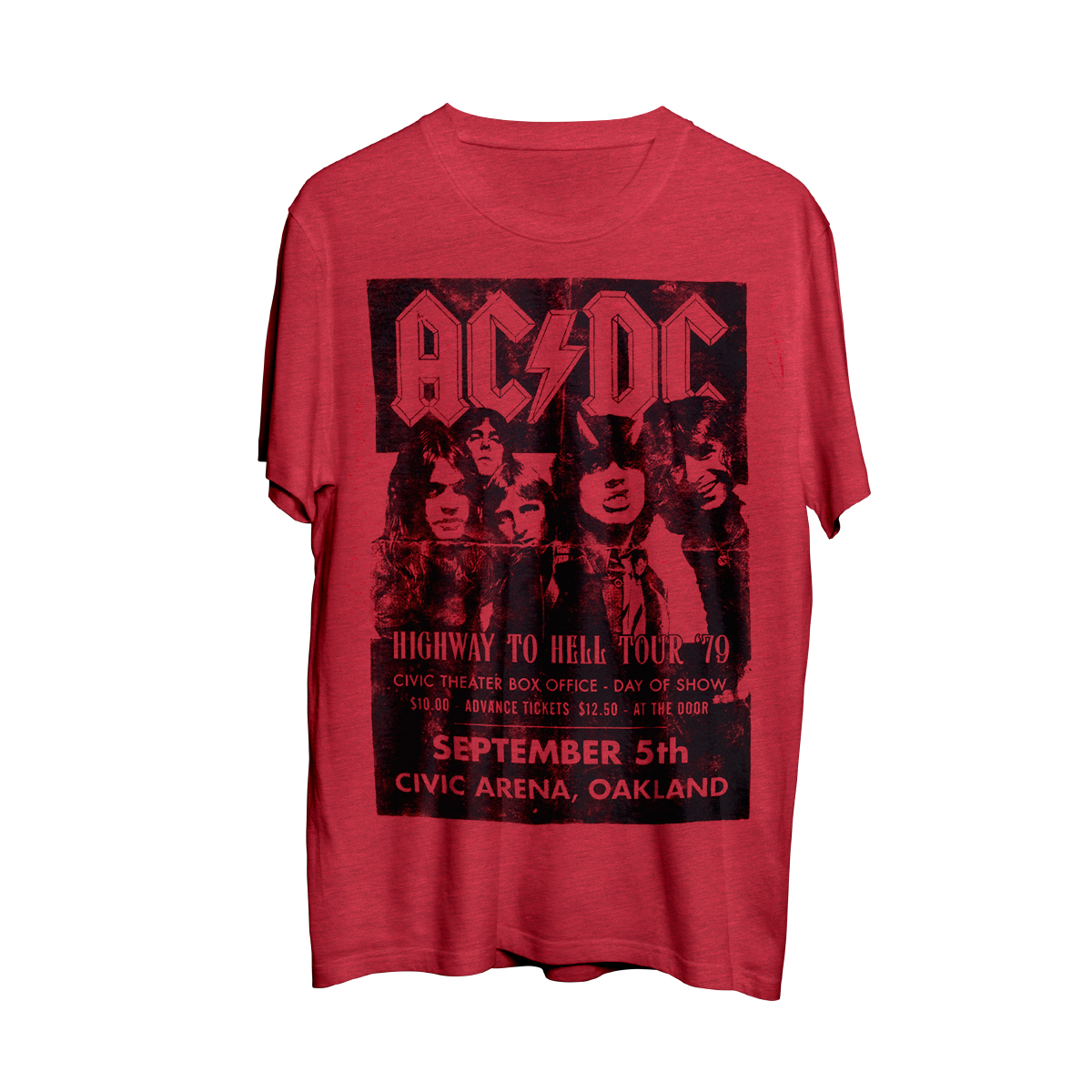 AC/DC Highway To Hell Tour Red Photo T-Shirt