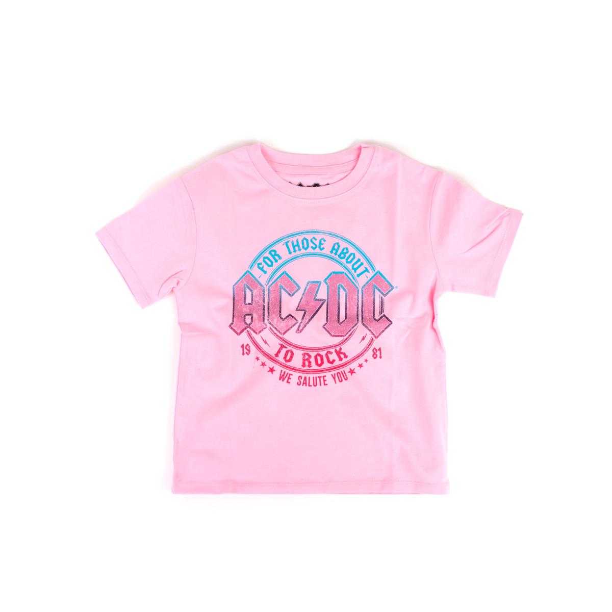 Kids Pink We Salute You T-shirt
