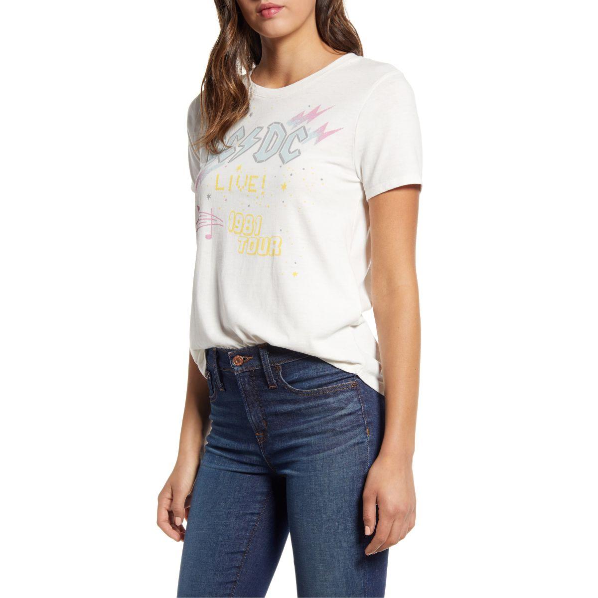 AC/DC Live 1981 Tour Pastel T-Shirt