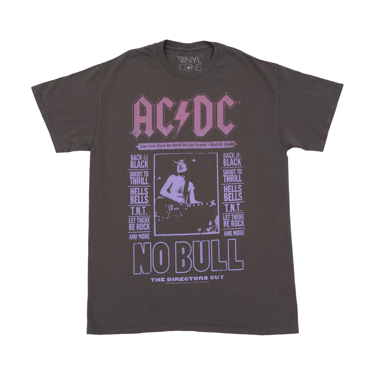 AC/DC Live from Plaza De Toros No Bull Faded T-shirt
