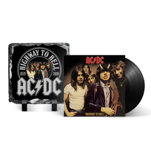 AC/DC Highway To Hell LP & 40th Anniversary Photo Slate