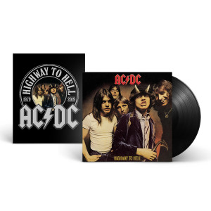 AC/DC Highway To Hell LP & 40th Anniversary Wood Panel