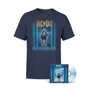 AC/DC Who Made Who Cover Navy Tee + CD
