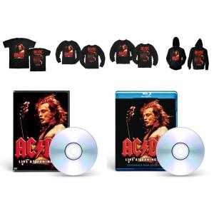 AC/DC Live at Donington Apparel + Media Bundle