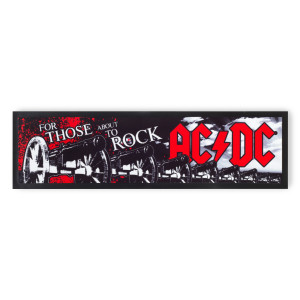 AC/DC Rubber Back Bar Runner