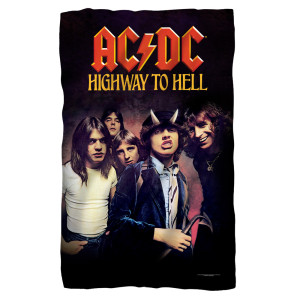 AC/DC - Highway-Fleece Blanket - White [36 X 58]