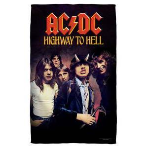 AC/DC - Highway-Beach Towel - White-Beach [30 X 60]