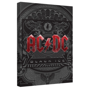 AC/DC - Black Ice Cover - Quickpro Artwrap Back Board - White [20 X 30]