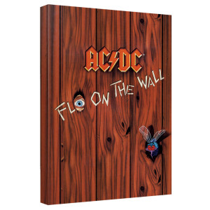 AC/DC - Fly On The Wall Cover - Quickpro Artwrap With Back Board - White [20 X 30]